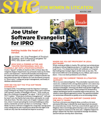 Joe Utsler in SUE Magazine